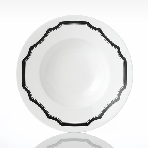 [화이트블룸] Black Rim Soup Bowl
