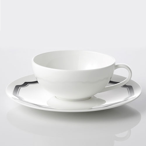 [화이트블룸] Black Edition Teacup / Saucer