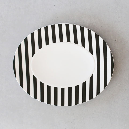 [화이트블룸] Black Edition Oval Platter