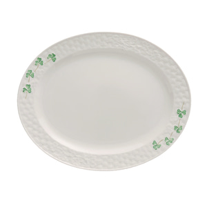 [Belleek] Shamrock Small Oval Platter