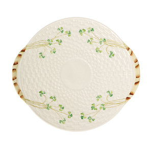 [Belleek] Shamrock Bread Plate