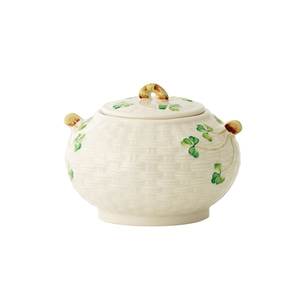 [Belleek] Shamrock Sugar Bowl