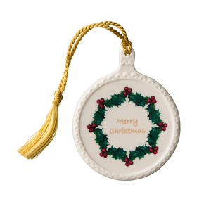 [Belleek] Merry Christmas Bauble Ornament