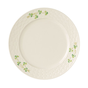 [Belleek] Shamrock Dinner Plate