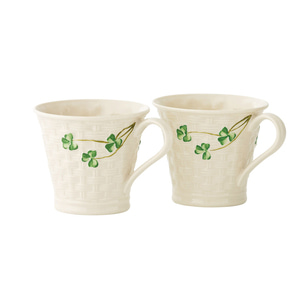 [Belleek] Basketweave Mugs 2 Box Set